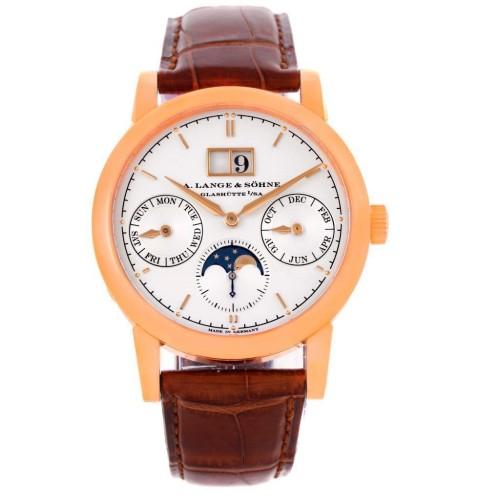 A. Lange & Sohne 330.032 Saxonia Annual Calendar 38.5mm Watch