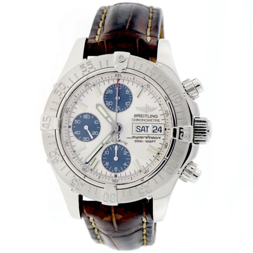 Breitling Chrono SuperOcean Day Date A13340 Stainless Steel 42mm Watch