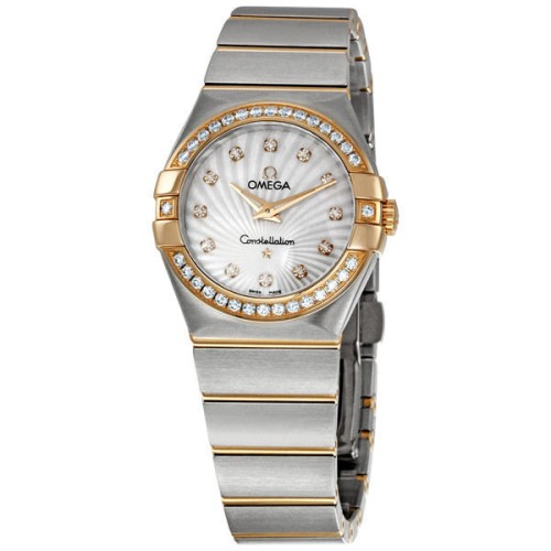 Omega 123.25.27.60.55.002 Constellation Diamond 18K Rose Gold/Steel Watch