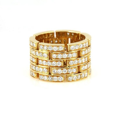 Cartier Maillon Panthere 18K Yellow Gold with Diamonds Ring