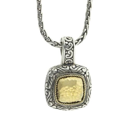 Effy Balissima Two Tone Square Pendant Necklace
