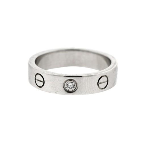 Cartier Love White Gold Mini 1 Diamond Ring