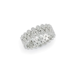 Interlocking Pear Diamond Band