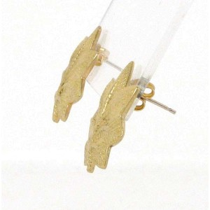 Tiffany & Co. Vintage 14k Yellow Gold Leaf Design Stud Earrings