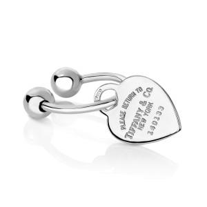 Tiffany & Co. Heart Charm Key Ring
