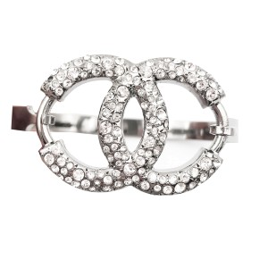 Chanel Ruthenium CC Crystal Cuff