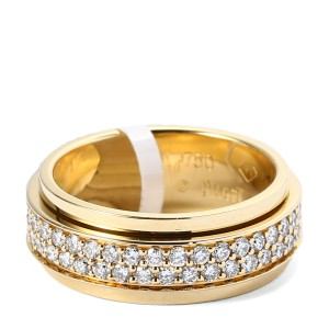 PIAGET 18K YG Double Diamond Possesion Ring