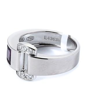 Piaget 18K White Gold Diamond Amethyst Miss Protocole Ring
