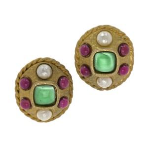 Chanel Gripoix Statement Earrings