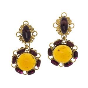 Chanel Gripoix Glass Earrings