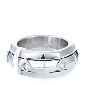 Piaget 18k White Gold Six Square Diamond Ring