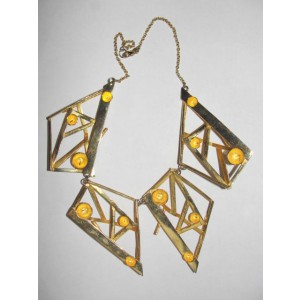Alexis Bittar Abstract Metal Bib Necklace