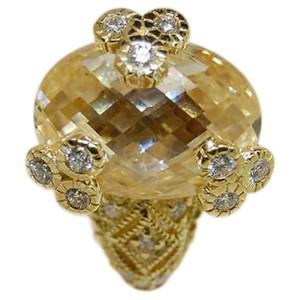 Judith Ripka 18K Yellow Gold Crystal & Diamond Earrings