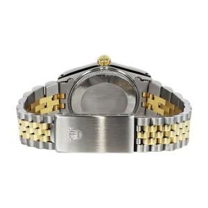 Rolex Datejust TwoTone Orange Color Roman Numeral Dial 36mm Womens Watch