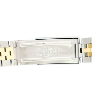 Rolex Datejust 16013 Two-Tone Fluted Bezel White Face Bezel Vintage Mens 36mm Watch