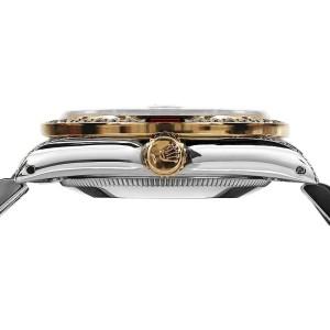 Rolex Datejust 2Tone 18K Gold/ Stainless Steel Silver Ruby & Diamond Jubilee Womens 26mm Watch
