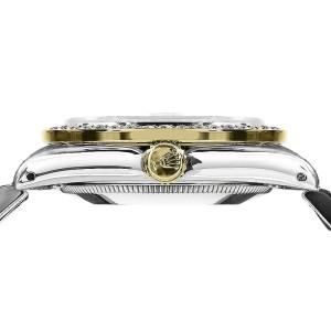 Rolex Datejust  2Tone 18K Gold Stainless Steel Black Dial & Diamond Bezel Jubilee Womens 26mm Watch