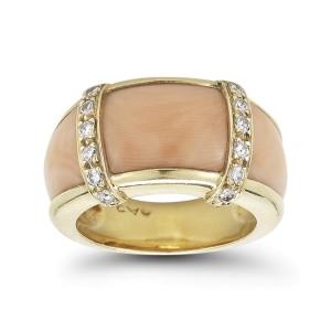 Van Cleef & Arpels Coral and Diamond Ring