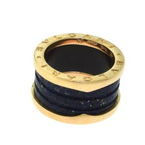 Bulgari B.zero1 18K Rose Gold and Lapis Lazuli Ring Size 6.25