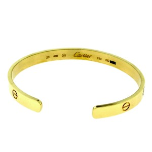 Cartier Love 18K Yellow Gold Cuff Size 20