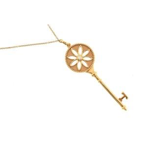 Tiffany & Co. Daisy Key 18k Rose Gold Pendant Necklace