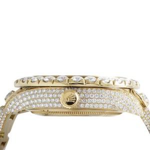 Rolex Sky Dweller 326938 18K Yellow Gold 39.7ct Diamond 46mm Mens Watch