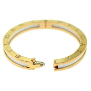 Bulgari B.zero1 Rose Gold White Ceramic Bracelet