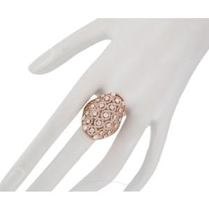 18K 750 Rose Gold 2.867ct Diamond Round Pattern Cocktail Ring