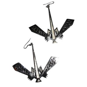 Eddie Borgo Silver Plated Dragonfly Runway Earrings