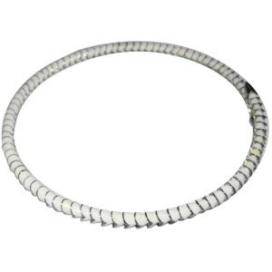 Eddie Borgo White Enamel Silverplated Serpent Collar Necklace