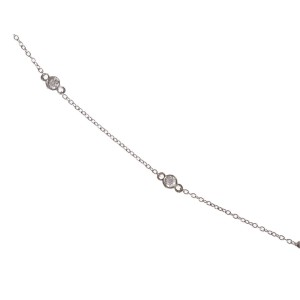 Alberto Juan 14 kt Gold Bezel Set Aquamarine and Diamond Necklace