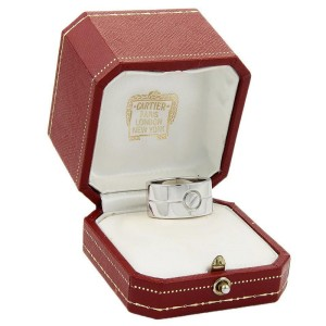 Cartier 18k White Gold High Love 11mm Wide Band/Ring
