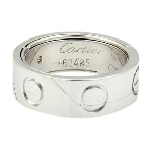 Cartier 18k White Gold Secret Astro Love Band/Ring