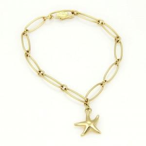 Tiffany & Co. Elsa Peretti 18K Yellow Gold Star Fish Charm Oval Link Chain Bracelet