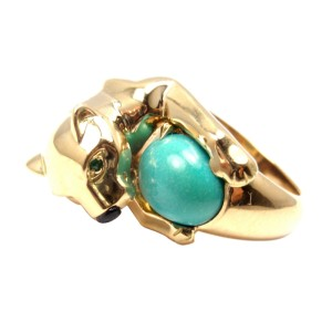 Cartier Panther Panthere Turquoise Emerald Onyx Ring