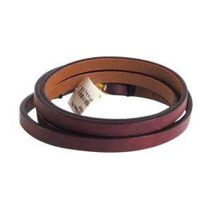Ippolita 18K Yellow Gold Bordeaux Leather Wrap Bracelet
