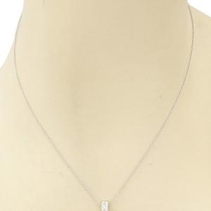 Tiffany & Co. Platinum Etoile Diamond Cross Pendant Necklace