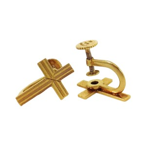 Vintage Tiffany & Co. 18K Yellow Gold Cross Design Earrings