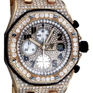 Audemars Piguet Royal Oak Offshore 18K Rose Gold and Diamonds 44mm Watch
