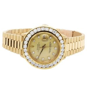 Rolex Presidential Datejust 6901 18K Yellow Gold 3.5ct Diamond Watch