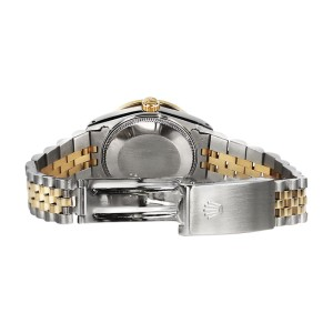 Rolex Datejust 18K Yellow Gold & Stainless Steel With Tahitian Mother Of Pearl 26mm Womens Watch
