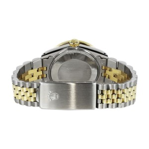 Rolex Datejust 2Tone18K Gold/Stainless Steel Ice Blue Ruby & Diamond Jubilee Womens 26mm Watch