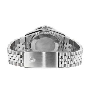 Rolex Datejust Glossy Diamond Pink Flower Stainless Steel Jubilee Womens 26mm Watch