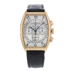 Franck Muller Master Of Complications 6850 CC MC 18K Rose Gold Automatic 34mm Mens Watch