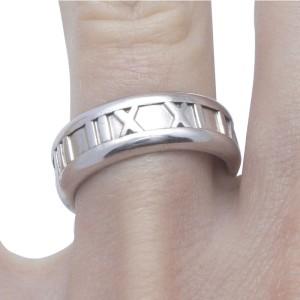 Tiffany & Co. 18K White Gold Atlas Band Ring 2003
