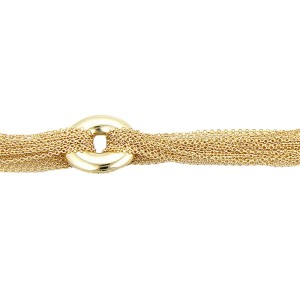Tiffany & Co. 18K Yellow Gold Multi Strand Mesh Link Toggle Bracelet