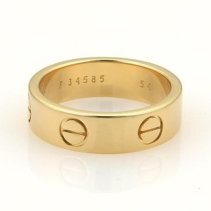 Cartier Love Ring Yellow Gold Size 7