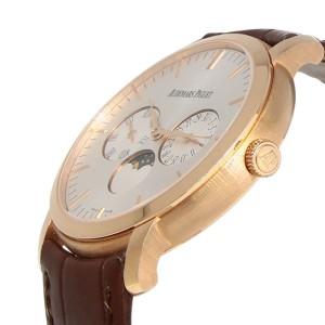 Audemars Piguet 26385OR Jules 18K Rose Gold Moon Calendar Mens Watch