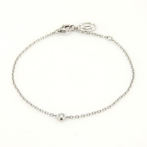 Cartier 18K White Gold Diamant Leger de Diamond Chain Link Bracelet