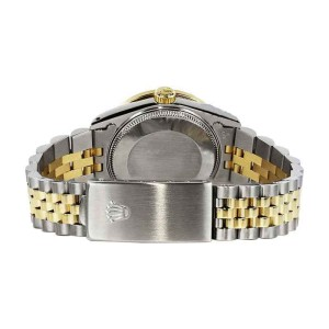 Rolex Datejust Stainless Steel And Gold Silver Diamond Dial Ladies 26 mm Watch